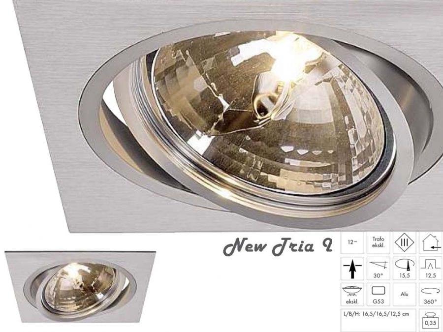 New Tria 1 QRB111 Børstet Aluminium-36222