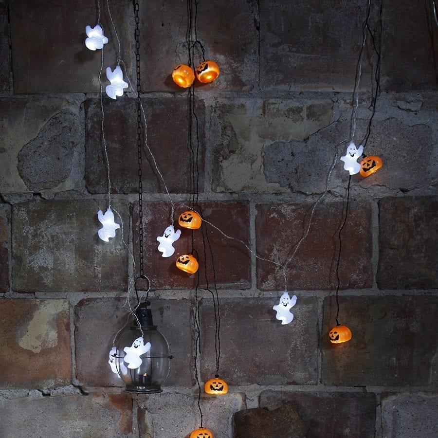 Halloween Gresskar LED Lysslynge 8 Lys-41974
