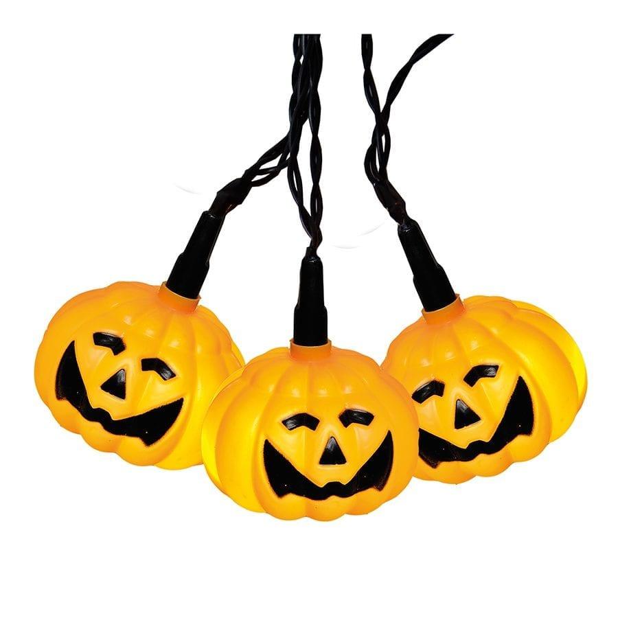 Halloween Gresskar LED Lysslynge 8 Lys-41972
