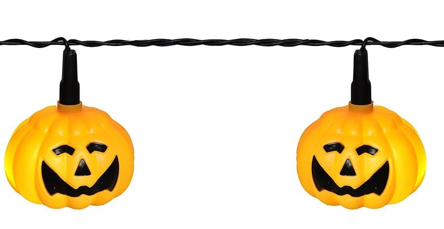 Halloween Gresskar LED Lysslynge 8 Lys-41971