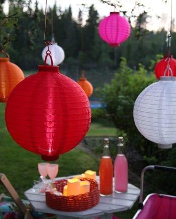 Festival LED Solcelle Lanterner-0