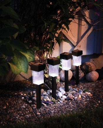 Braga LED Solar Energy Garden Sticks x4-0