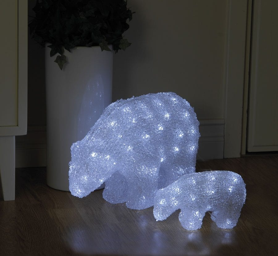 Isbjørn Crystal LED 22 cm-33948