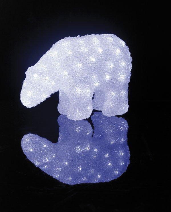 Isbjørn Crystal LED 22 cm-33950