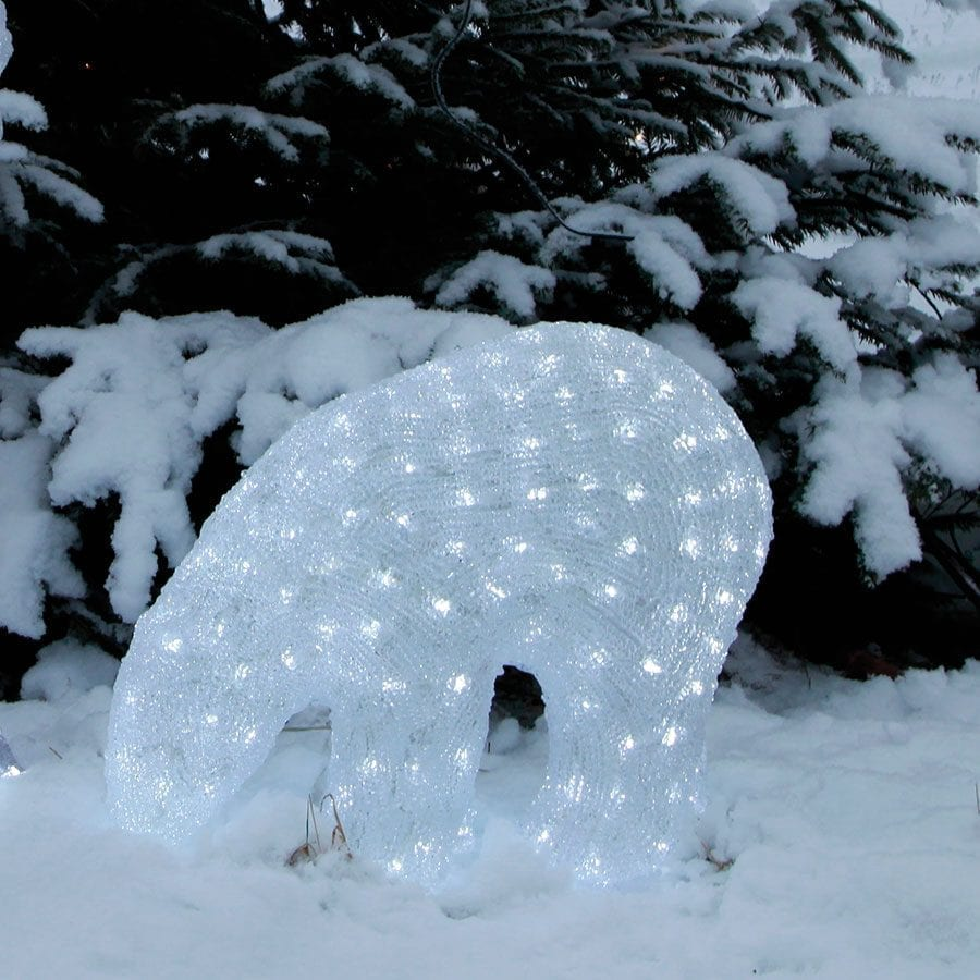 Isbjørn Crystal LED 42cm-0