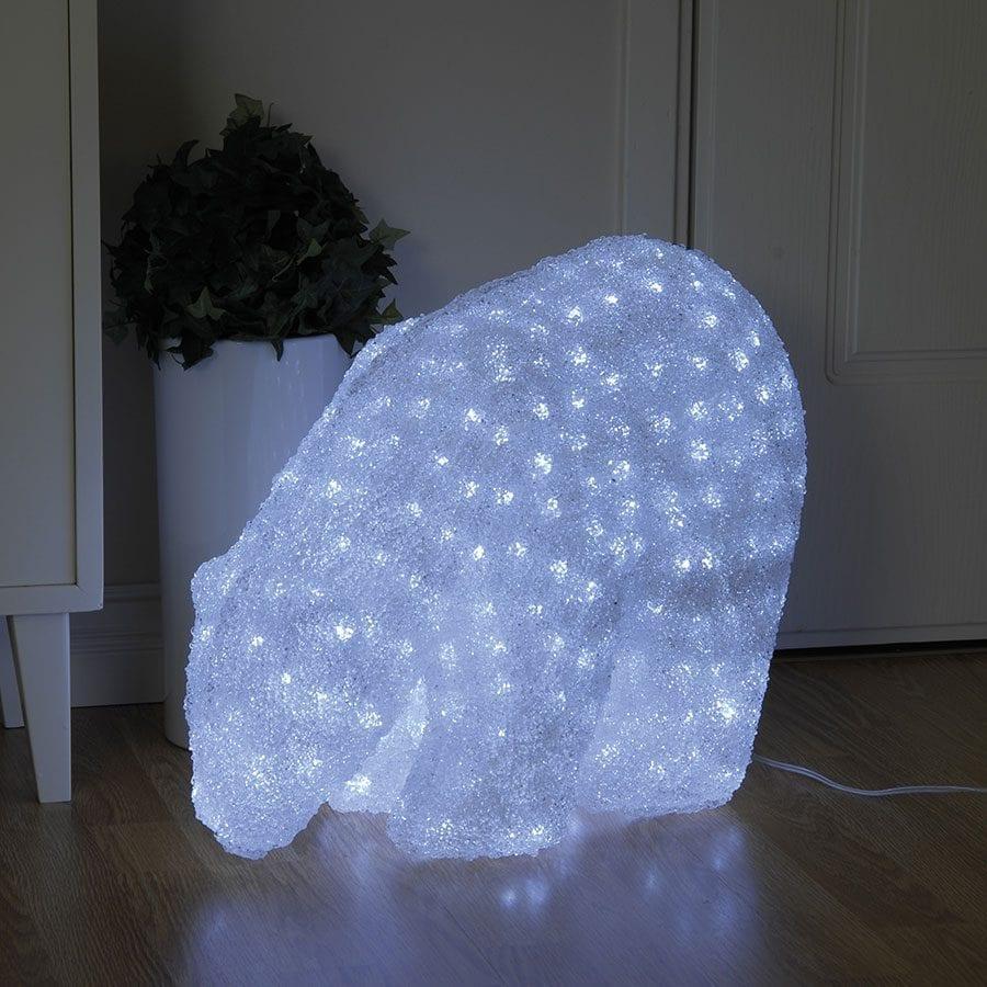 Isbjørn Crystal LED 42cm-41987