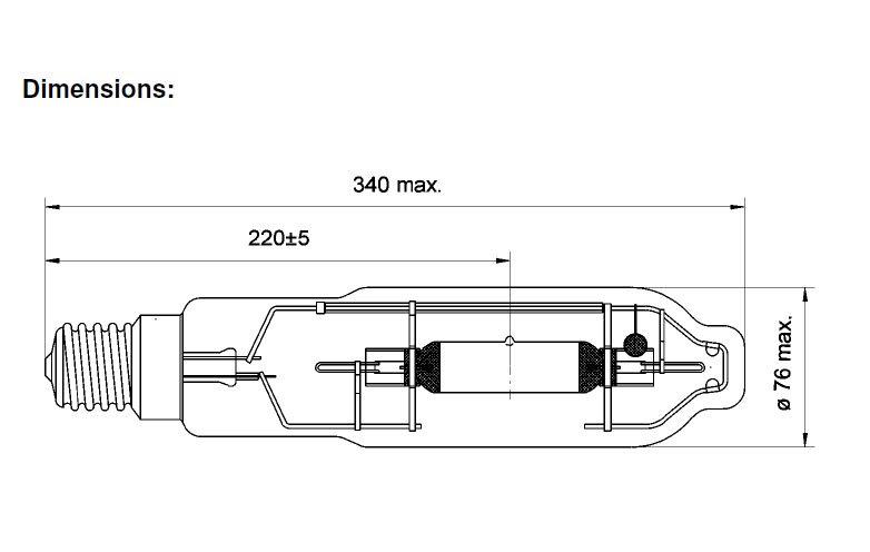 600W SUNmaster MH Vekst-33137