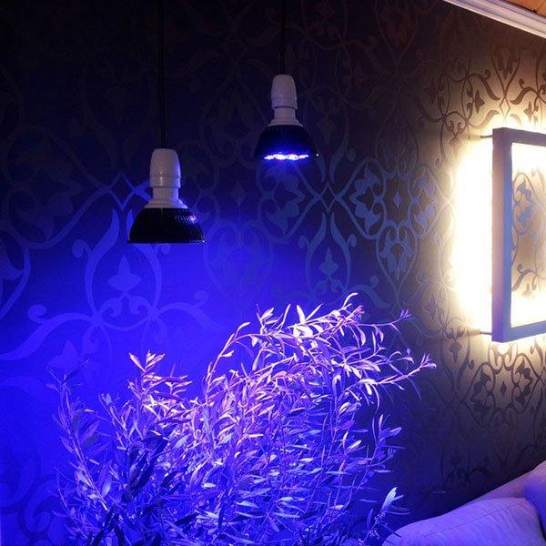 12x3W E27 LED Vekstlys Pære-55137