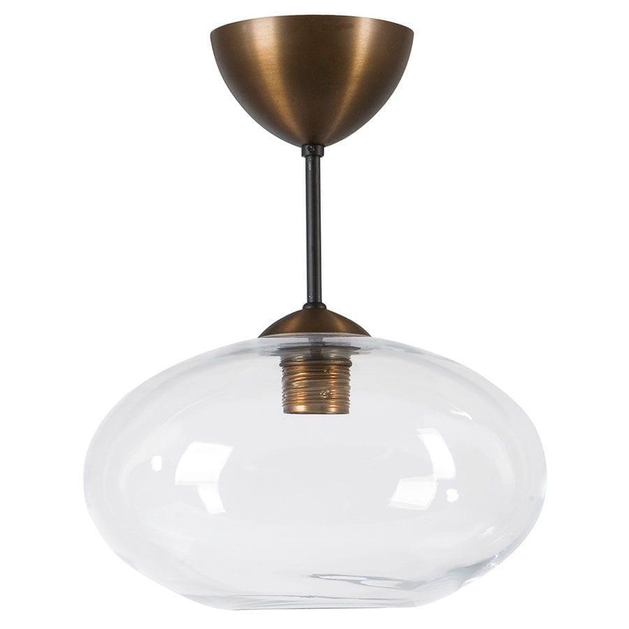 Bullo Nedpendlet Taklampe Klart / Opalt Glass-0