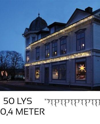 System LED Istapp Extra 50 lys 3x0,4m Varmhvit-0