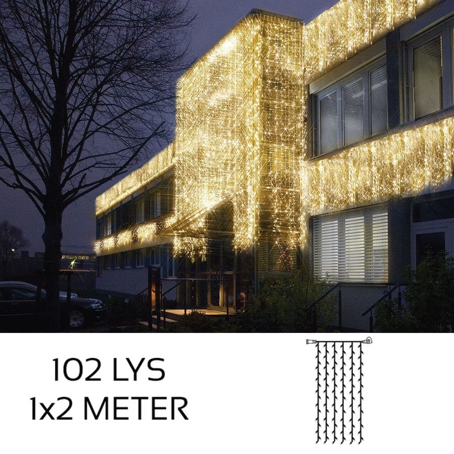 System LED Gardin Extra 102 lys 1x2m Varmhvit-0