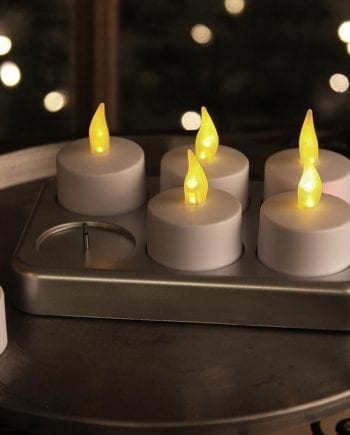 Oppladbare LED Telys 6 pk-0