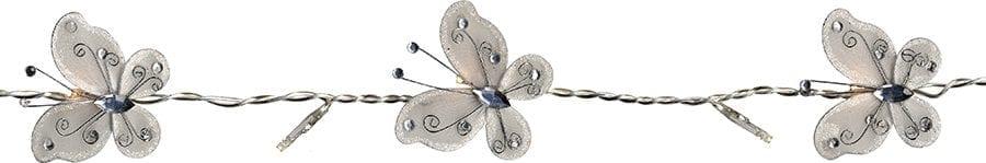 Sommerfugl Batteridrevet LED Lysslynge 16 Lys Hvit-41696