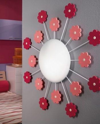 Viki 1 Vegg-/Taklampe Blomster-0