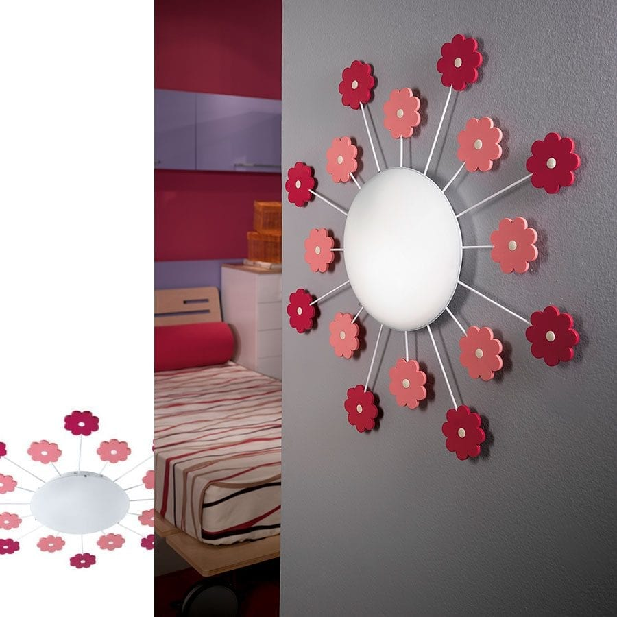 Viki 1 Vegg-/Taklampe Blomster-58568