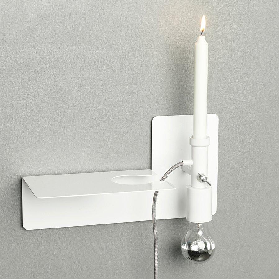 Northern Lighting Sunday Vegglampe Hvit/Sort-42866