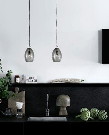 Northern Lighting Unika Glass Pendel-0