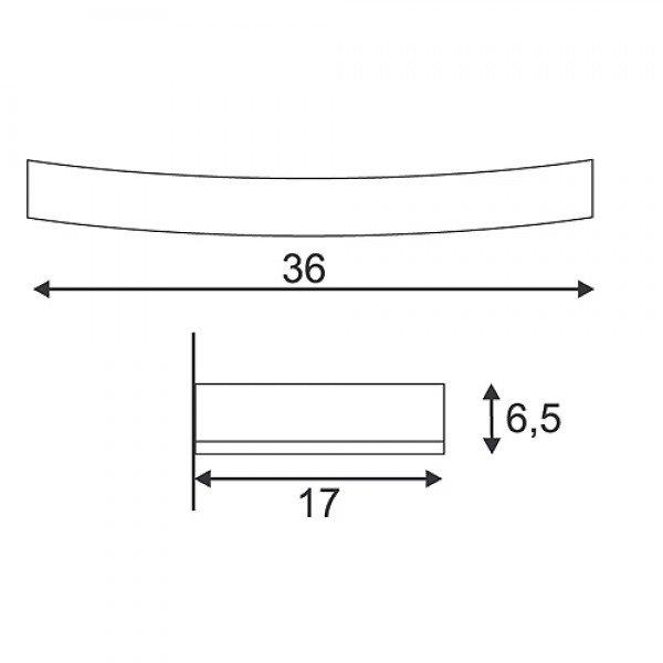 GL 102 Curve Gips Vegglampe-30109