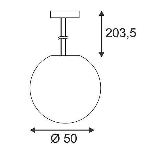 Rotoball E27 Taklampe-30420