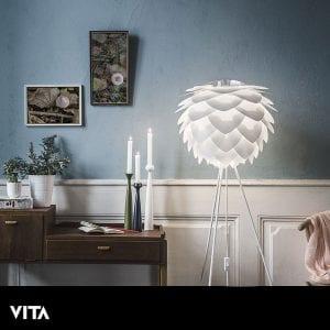 VITA Silvia Medium Lampeskjerm Hvit-0