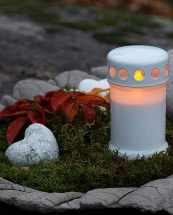 Gravlykt LED Hvit 14 cm-0