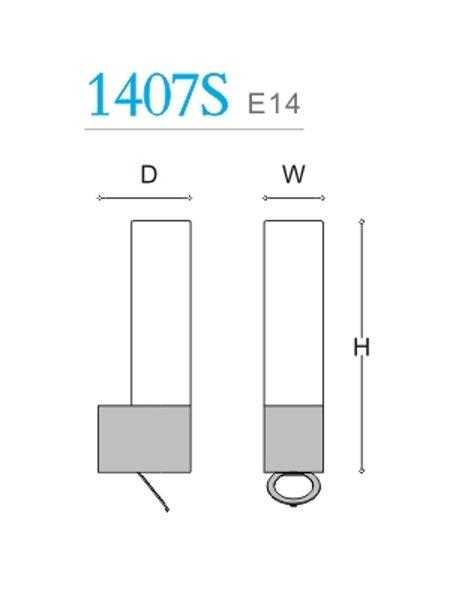 Tube vegg Baderomslampe med stikkontakt-29272