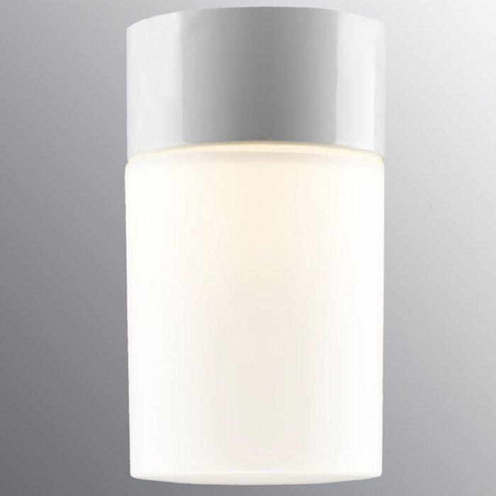 Ifö Opus 100175 Badstu Vegg Taklampe Klart Glass HvitGrå