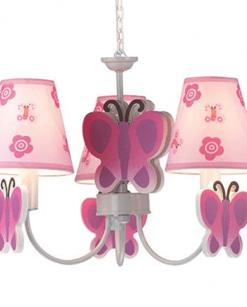 Butterfly Rosa Taklampe-0