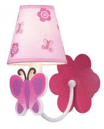 Butterfly Rosa Vegglampe-0