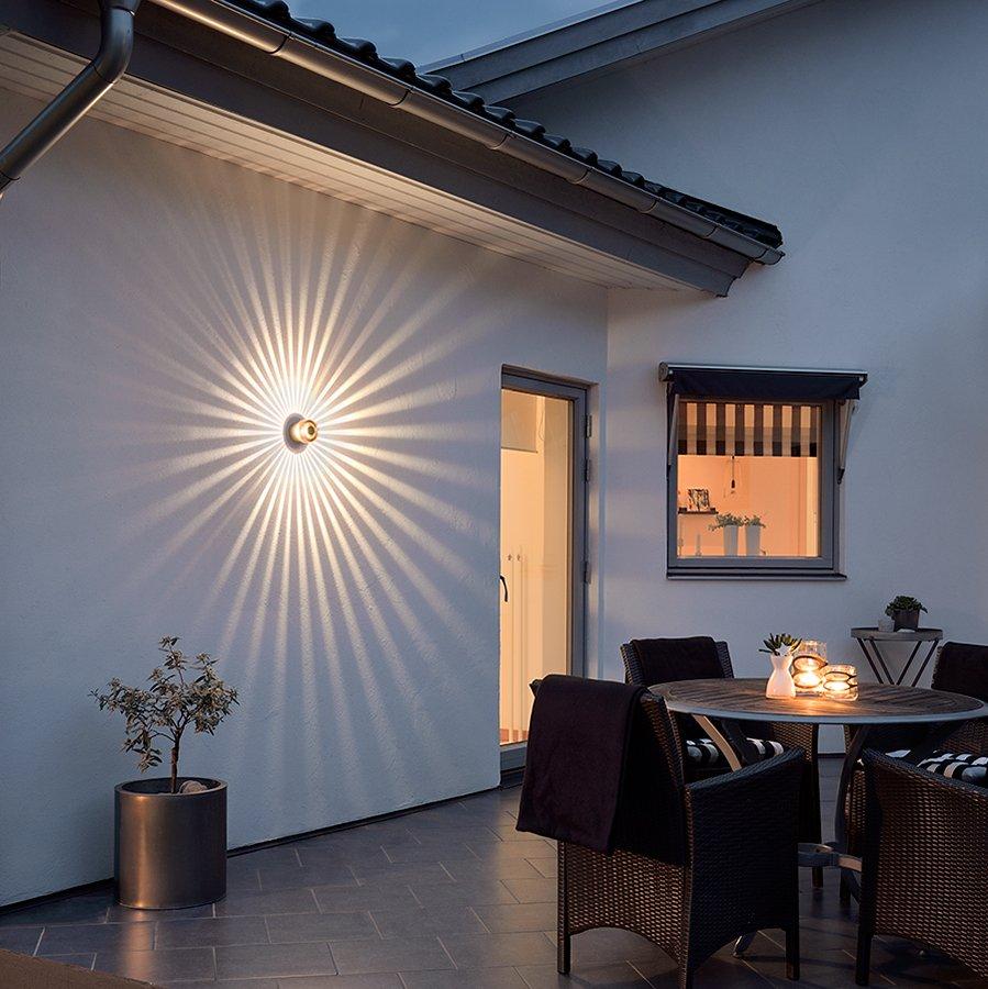 Monza LED Veggspot Spiral-40438