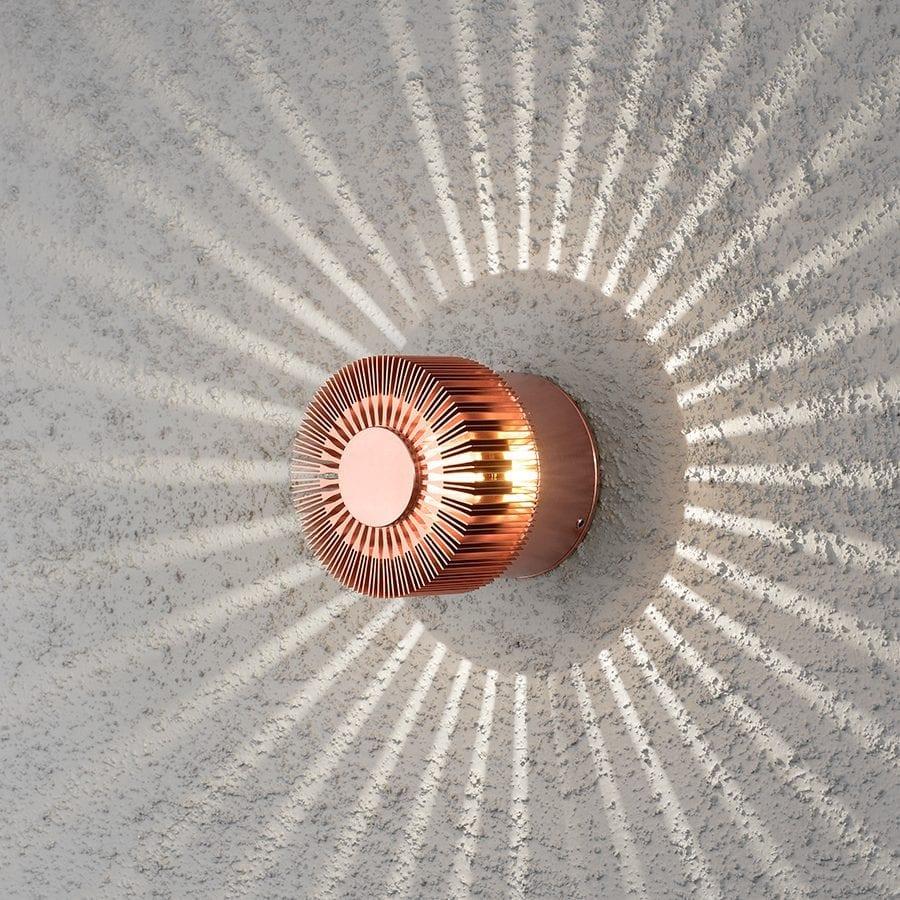 Monza LED Veggspot Spiral-40434