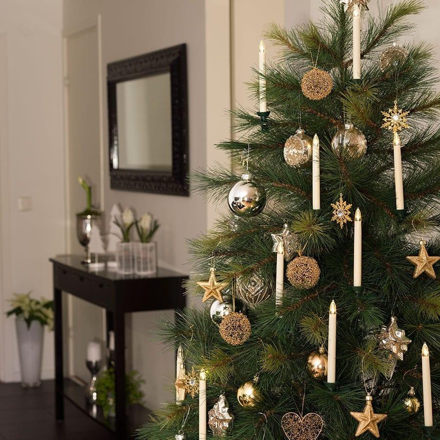 Juletrebelysning LED Trådløst 10 Lys-42342