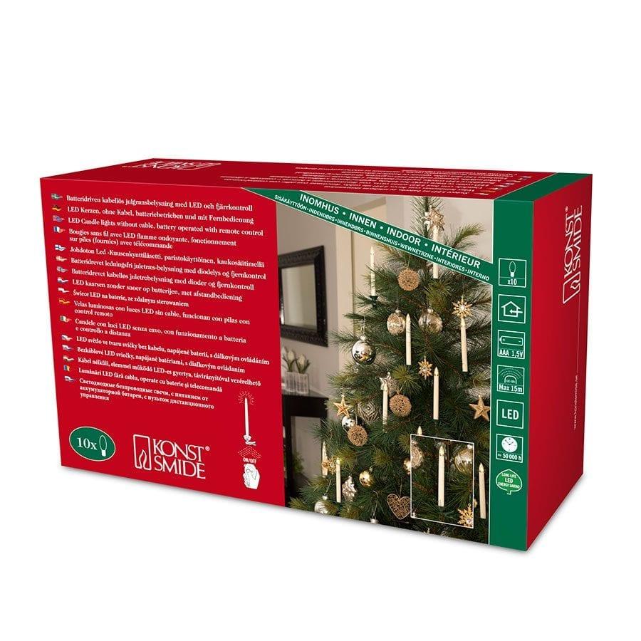 Juletrebelysning LED Trådløst 10 Lys-42341