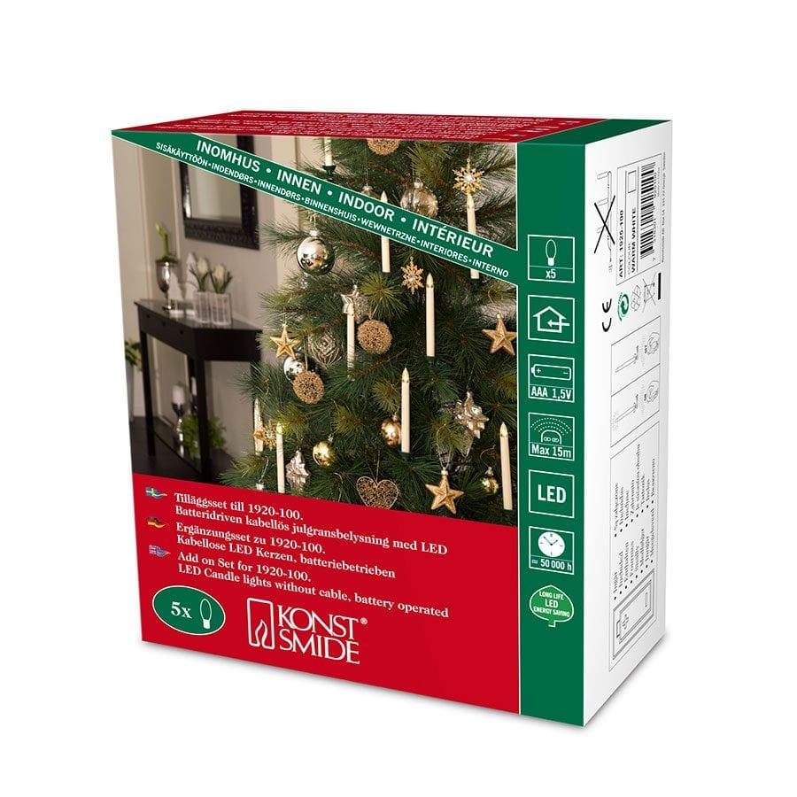 Juletrebelysning LED Trådløst Ekstra Sett-42350