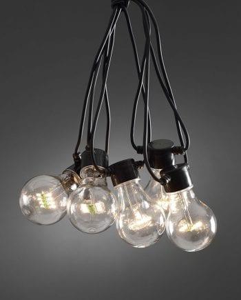 LED Party Lysslynge 10 Lys Varmhvit Extra Sett-0