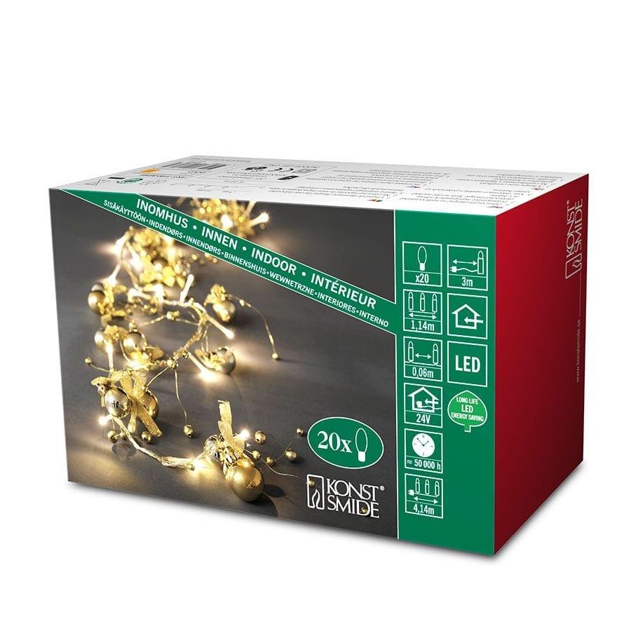 Dekor LED Lysslynge 20 Lys Gull-42358