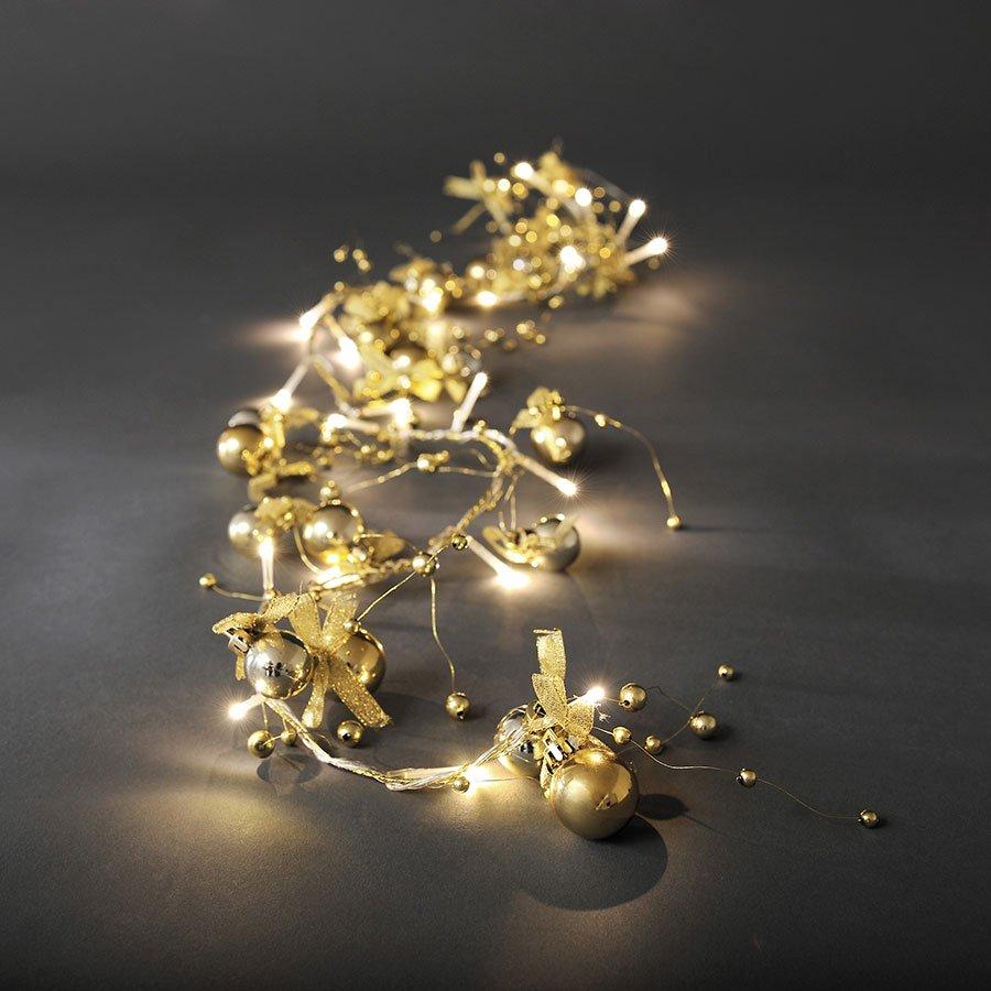 konstsmide dekor led lysslynge 20 lys gull. Black Bedroom Furniture Sets. Home Design Ideas