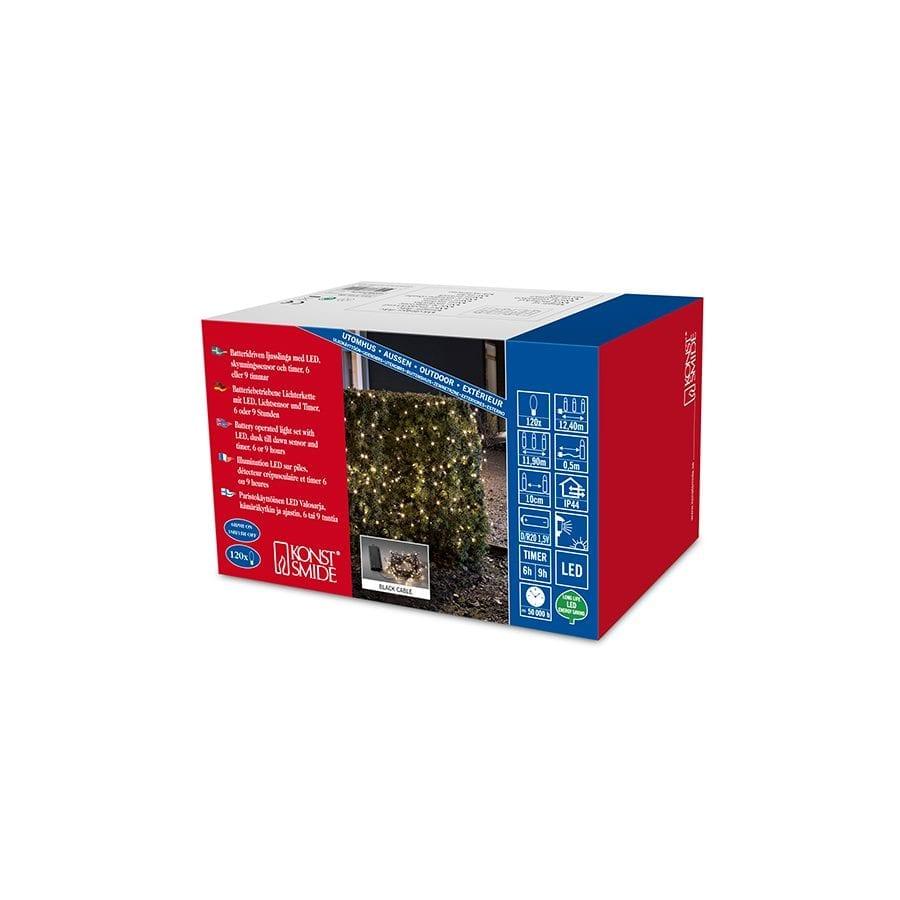 Batteridrevet LED Lysslynge Sensor 120 Lys-42280