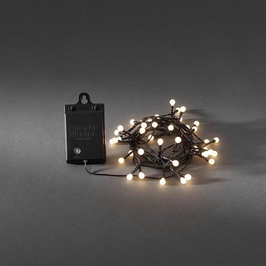 Batteridrevet LED Lysslynge Sensor 40 Lys-0