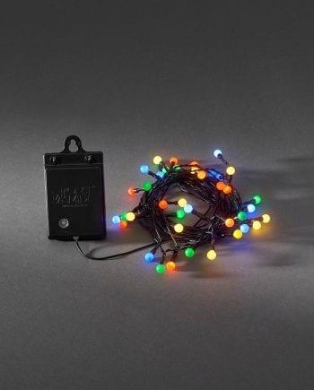 Batteridrevet LED Lysslynge Sensor 40 Lys Multi-0