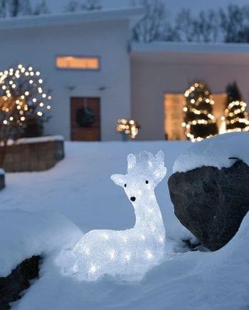 Liggende LED Reinsdyr 40 Lys-0