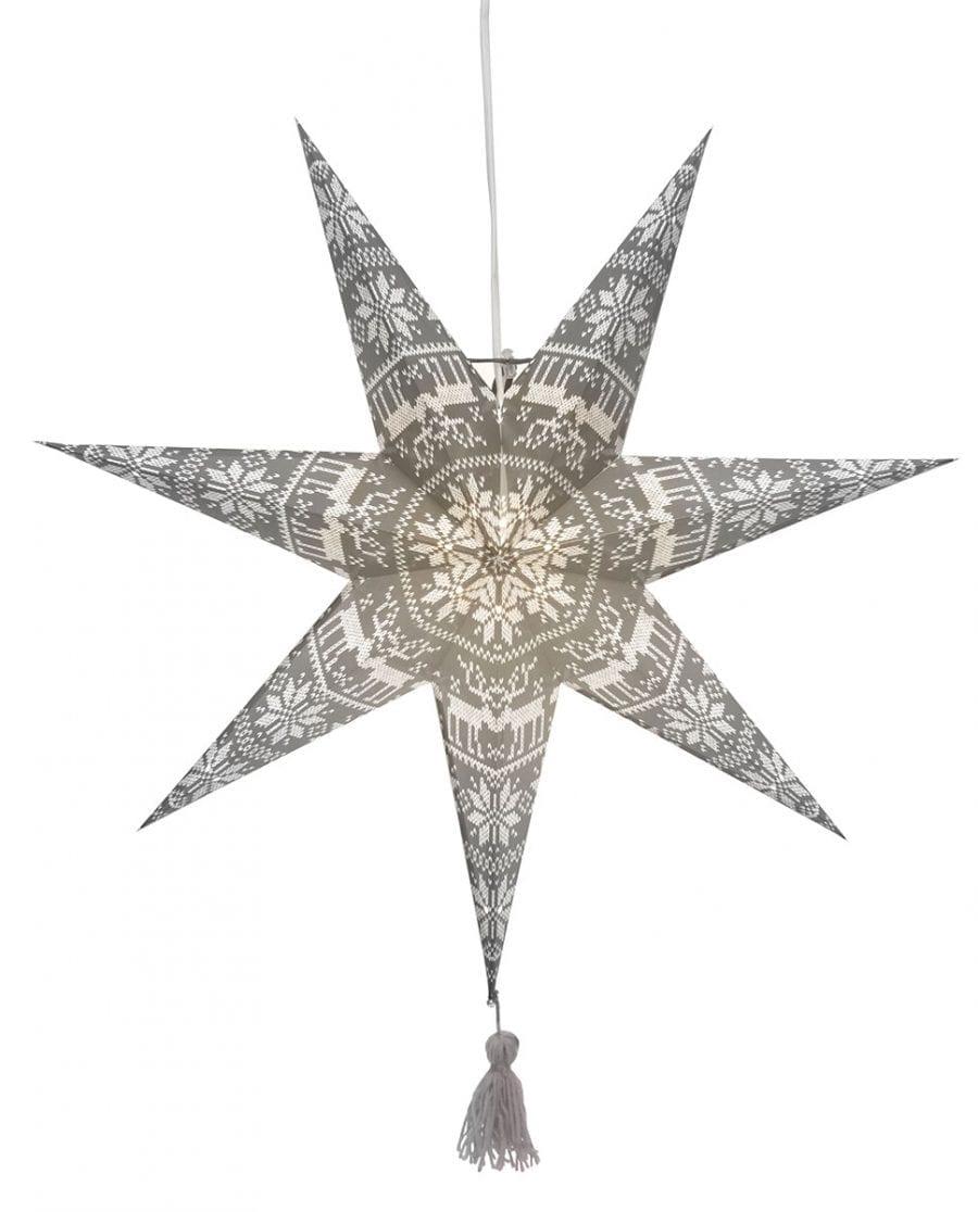 Tärnaby Papirstjerne m/ Dusk Grå 60 cm-66726
