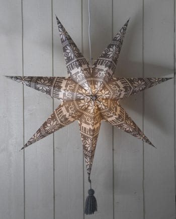 Tärnaby Papirstjerne m/ Dusk Grå 60 cm-0