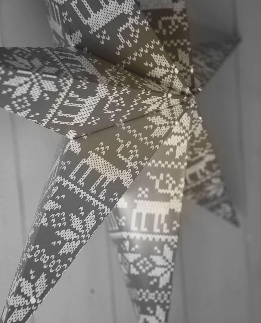 Tärnaby Papirstjerne m/ Dusk Grå 60 cm-66722