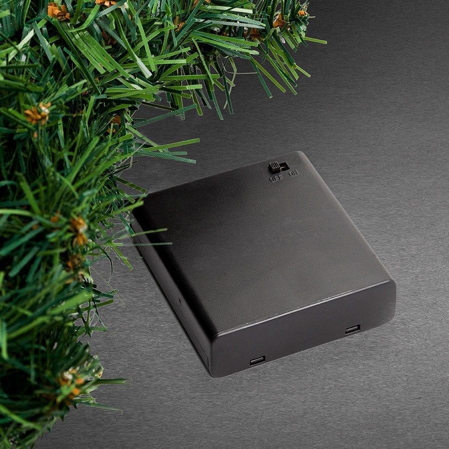 Batteridrevet LED Grankrans Sensor 40 Lys-42405