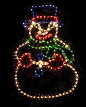Snømann LED Ropelight Silhuett-0