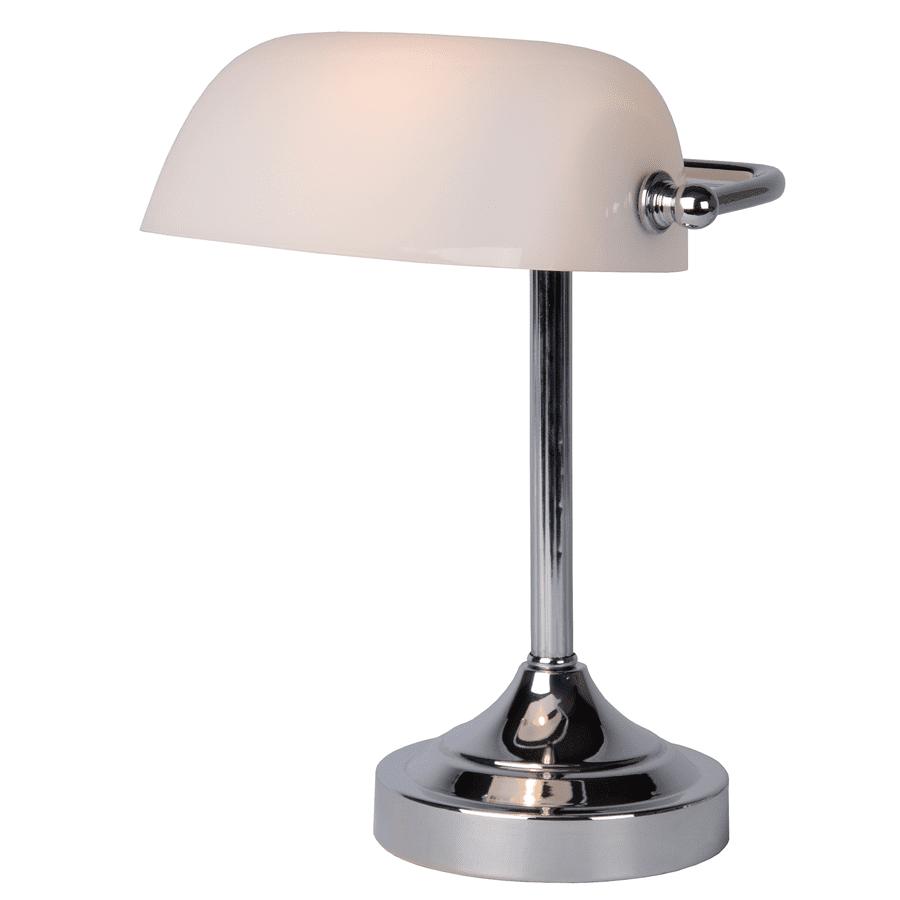 Banker Bordlampe Krom/Bronse-52149