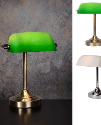 Banker Bordlampe Krom/Bronse-0