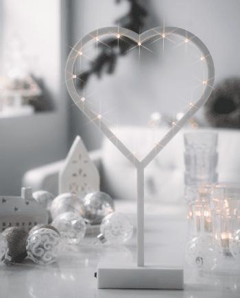 Herstal Batteridrevet LED Jingle Heart-0