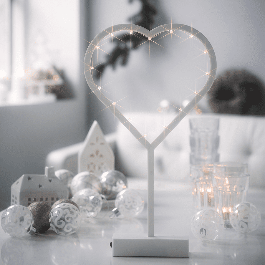 Herstal Batteridrevet LED Jingle Heart-0